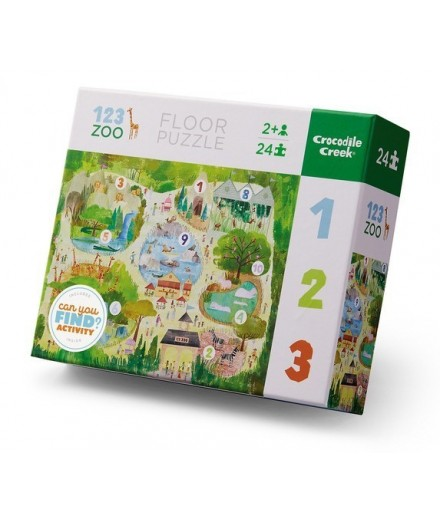 PUZZLE 24 PCS - CAN YOU FIND ANIMALS IN THE ZOO?