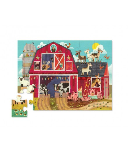 PUZZLE 24 PCS - CAN YOU FIND BARNYARD ANIMALS?