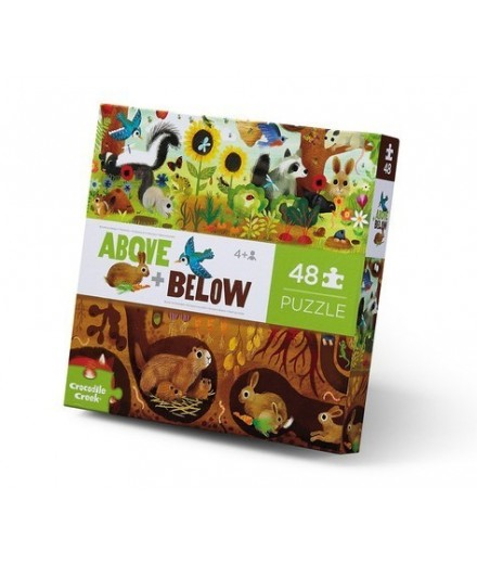 PUZZLE 48 PCS - ABOVE AND BELOW BACKYARD