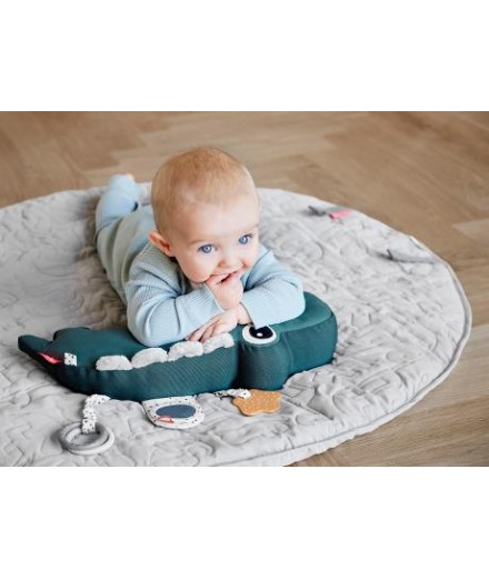 Tummy time activity toy croco - green