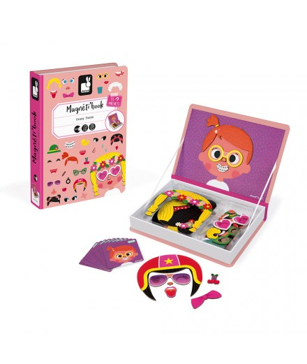 GIRL'S CRAZY FACES MAGNETI'BOOK