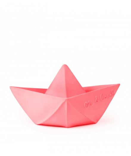 Barco Origami Rosa
