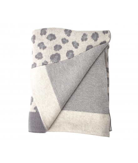 Blanket leopard grey