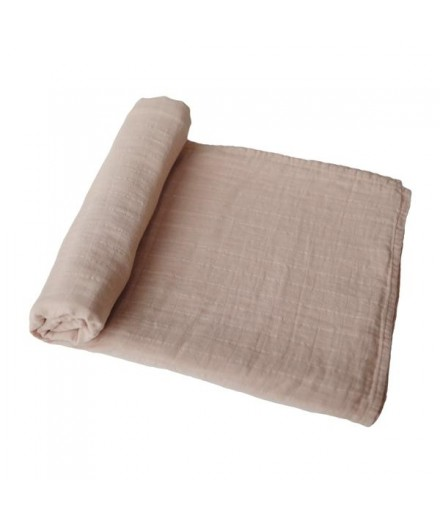 ORGANIC COTTON SWADDLE PALE TAUPE