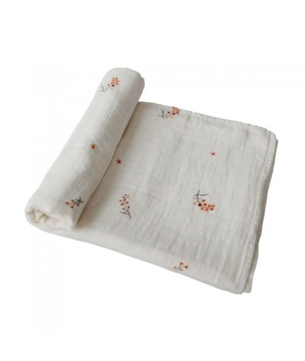 ORGANIC COTTON SWADDLE FLOWERS