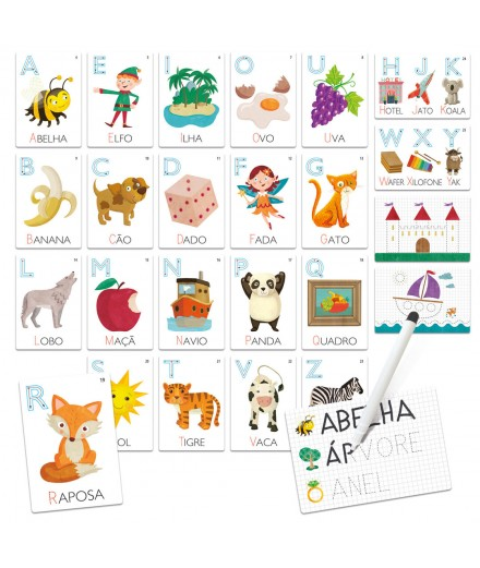 FLASH CARDS APRENDER A LER E ESCREVER - MONTESSORI