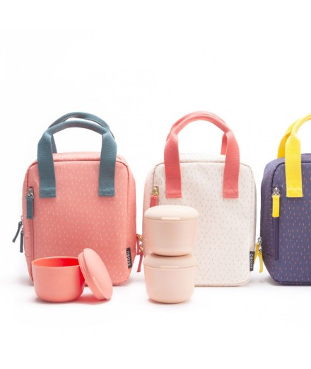 Insulated Lunch Bag - coral