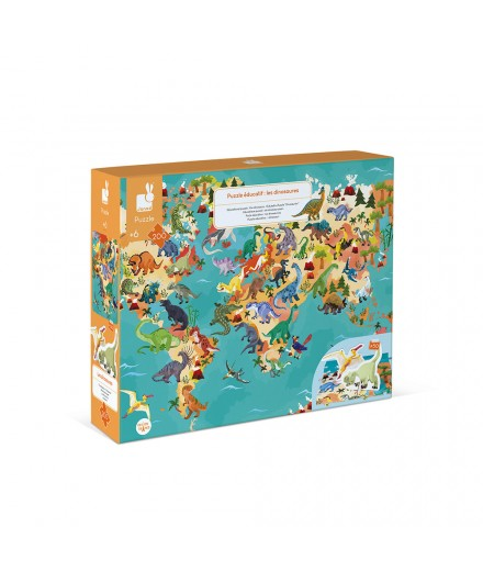 EDUCATIONAL PUZZLE THE DINOSAURS