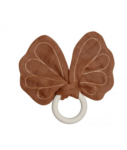 Butterfly Teether - cinnamon