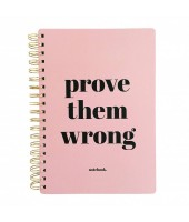 Notebook Prove them wrong