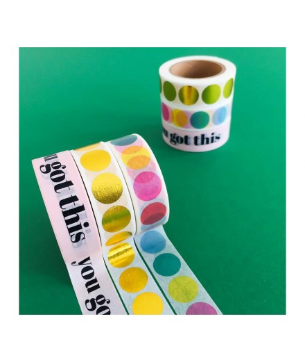 Washi tape Rainbow dots