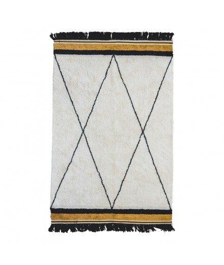 WASHABLE RUG ETHNIC OCHER