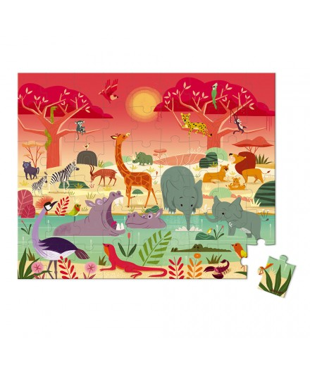 100 PIECES ANIMAL RESERVE PUZZLE