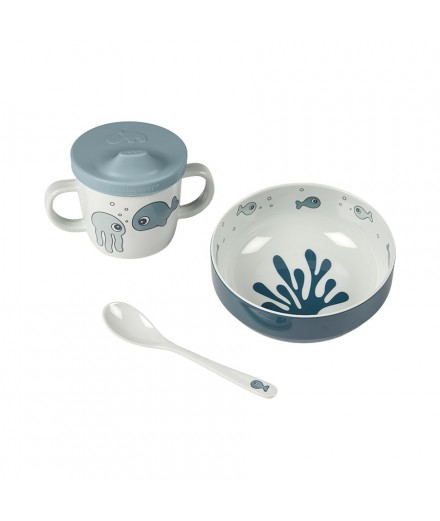 FIRST MEAL SET SEA FRIENDS - BLUE