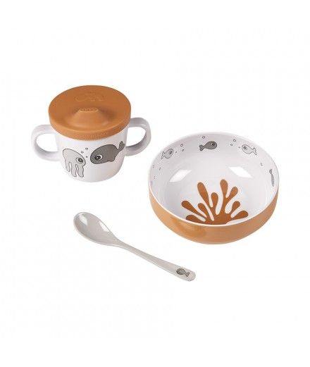 FIRST MEAL SET SEA FRIENDS - GREY