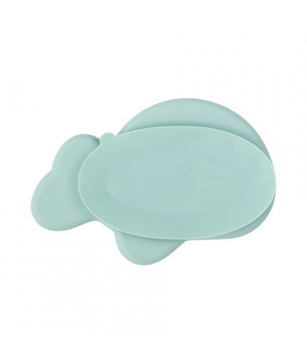 SILICONE PLATE WALLY BLUE
