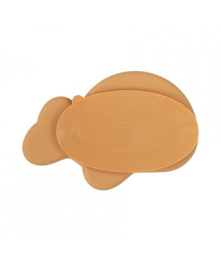 SILICONE PLATE WALLY MUSTARD