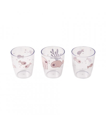 MINI GLASS 3 PCS SEA FRIENDS POWDER