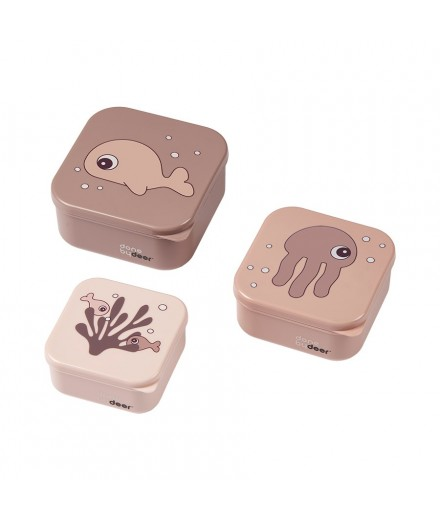 Snack box set 3 pcs, SEA FRIENDS POWDER