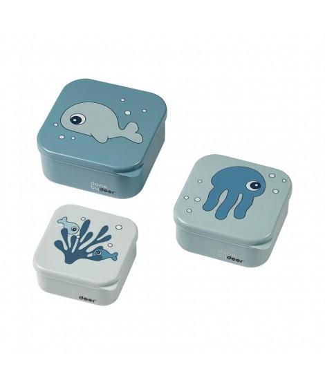 Snack box set 3 pcs, SEA FRIENDS BLUE