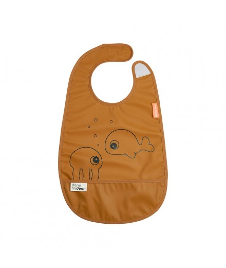 BIB SEA FRIENDS MUSTARD