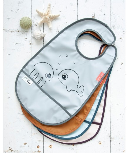 BIB SEA FRIENDS GREY