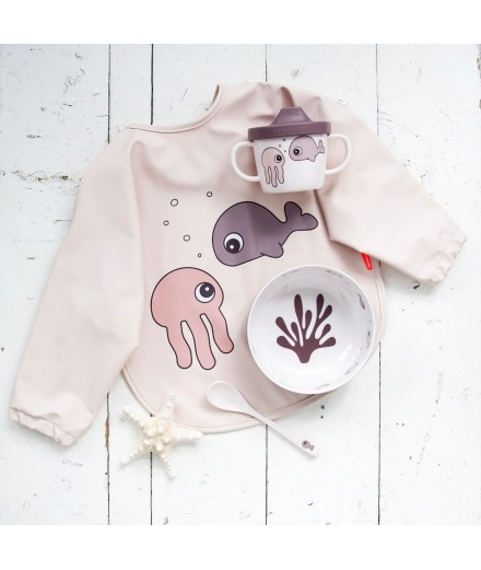 BABETE COM MANGAS 6-18 M SEA FRIENDS ROSA