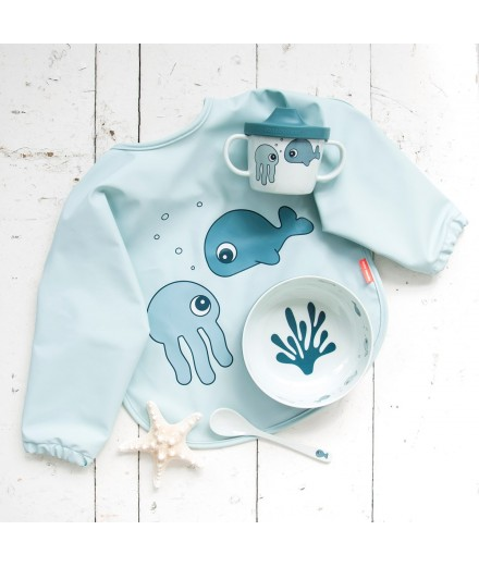 BABETE COM MANGAS 6-18 M SEA FRIENDS AZUL