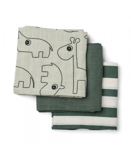 PACK 3 FRALDAS DEER FRIENDS - VERDE